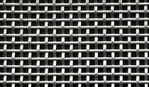 mesh made of half-round stainless steel wire